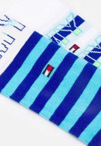 Tommy Hilfiger - KIDS SOCK WORDING 4 PACK UNISEX - Socks - blue combo - 1