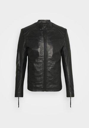 TALON - Kožená bunda - black