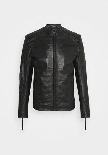 TALON - Leather jacket - black