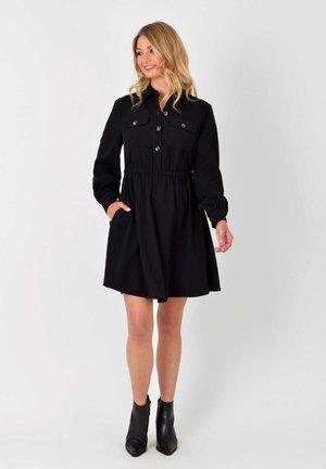 TWILL  - Shirt dress - black