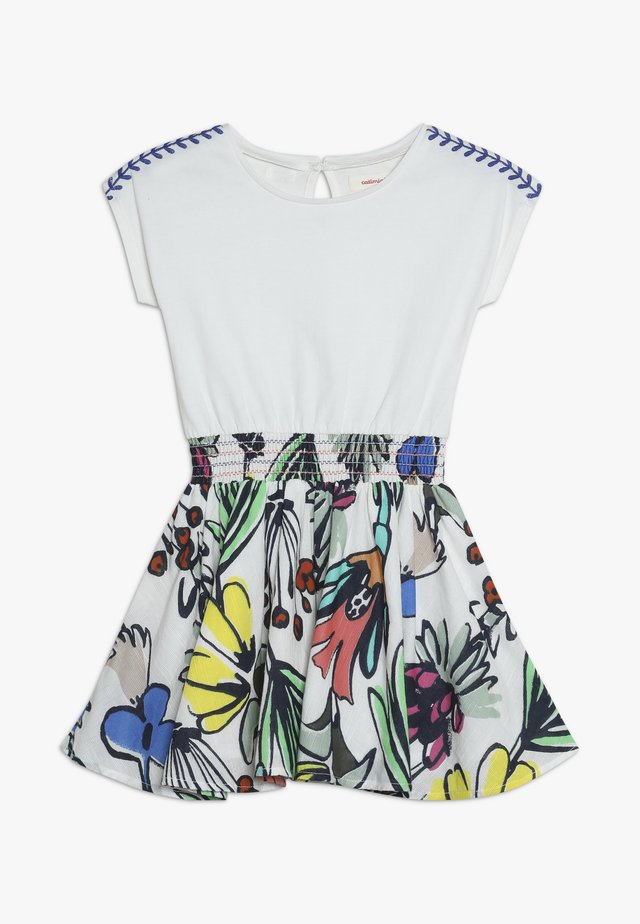 DRESS - Jersey dress - white/multicolor