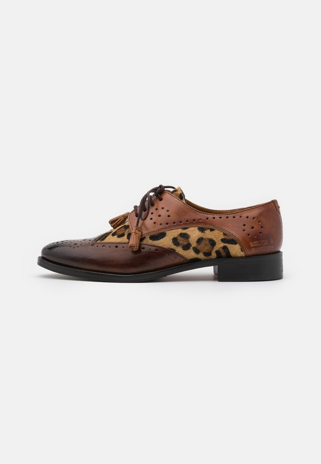 BETTY - Derbies - wood/tan/brown