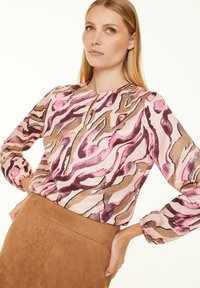 comma - Blouse - pink zebra lines - 0