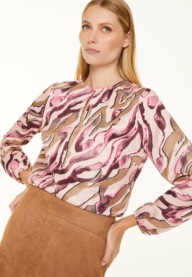 comma - Blouse - pink zebra lines