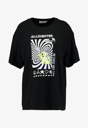 EASY - Print T-shirt - black