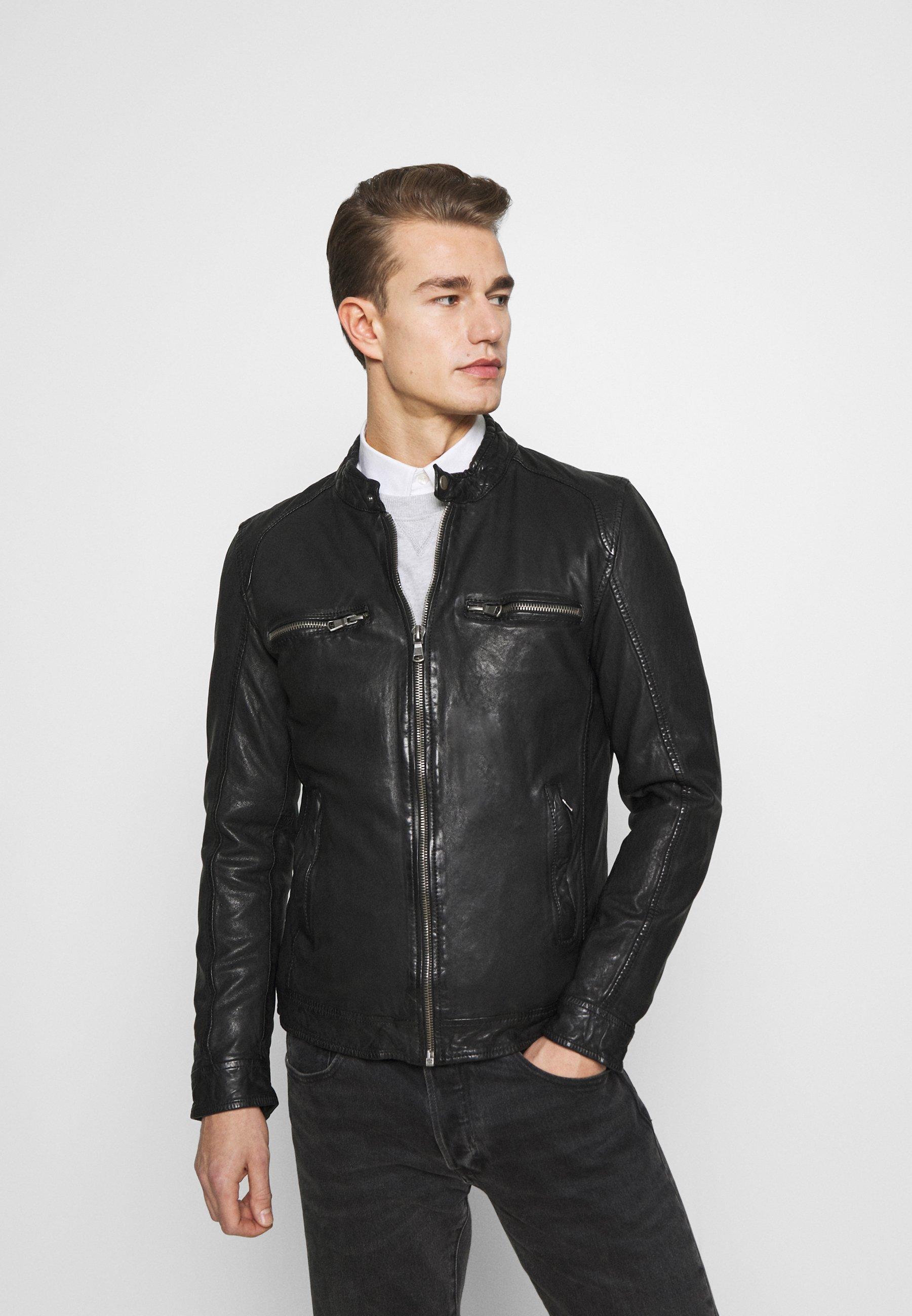 Men BREAK DAWN - Leather jacket