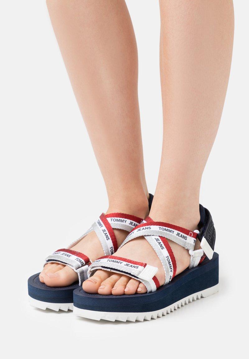 Tommy Jeans - STRAPPY - Platform sandals - twilight navy