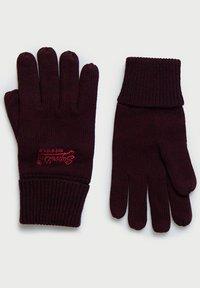 Superdry - ORANGE LABEL - Gloves - cranberry grit - 1