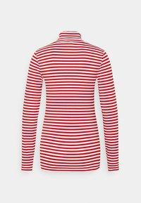 Calvin Klein - STRIPE TURTLE NECK - Long sleeved top - red - 1