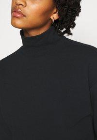 Even&Odd - High Neck Sweatshirt - Sweatshirt - black - 5