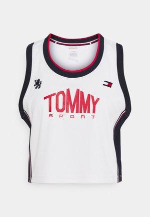 CROP TANK - Sports shirt - ivory