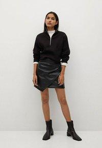 Mango - Wrap skirt - noir - 1