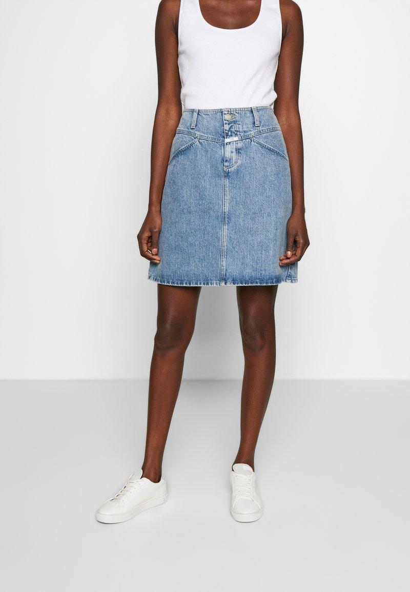 CLOSED - IBBIE - A-line skirt - mid blue