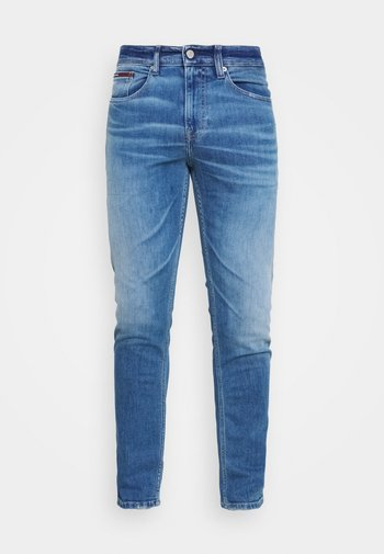 AUSTIN SLIM TAPERED - Slim fit jeans - light blue denim