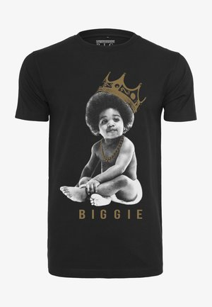 BIGGIE CROWN CHILD - Print T-shirt - black