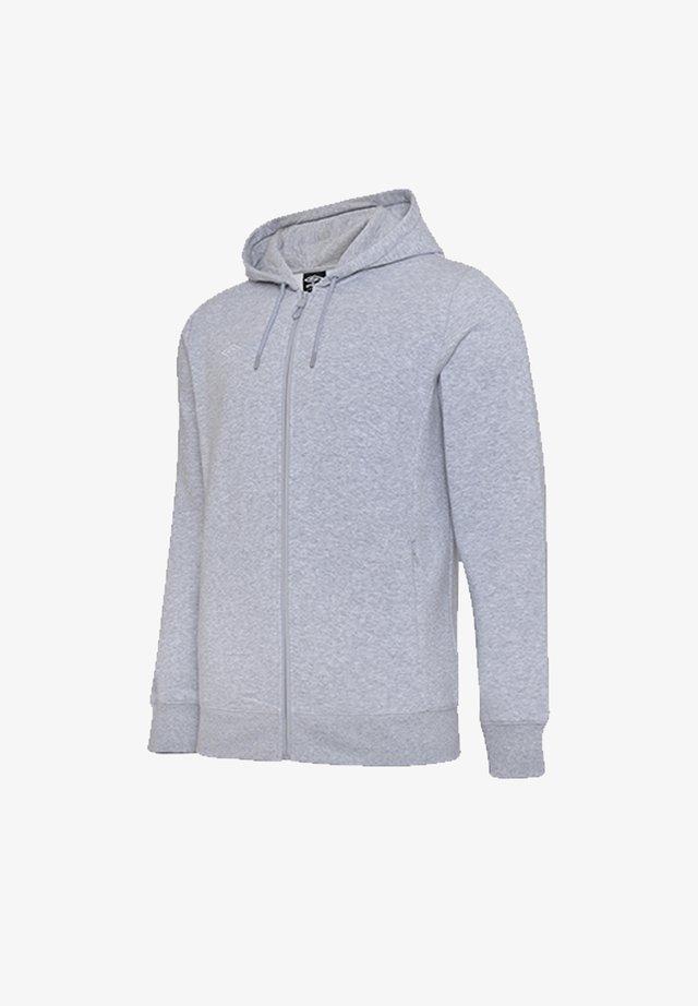 Zip-up hoodie - grauweiss