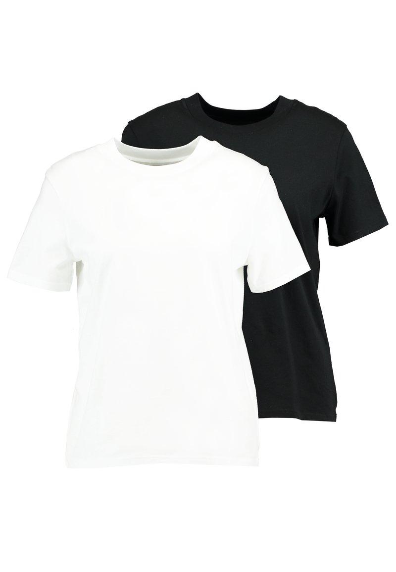 KIOMI - 2 PACK - Basic T-shirt - white/black