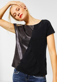 Street One - MIT METALLIC-LOOK - Print T-shirt - schwarz - 0