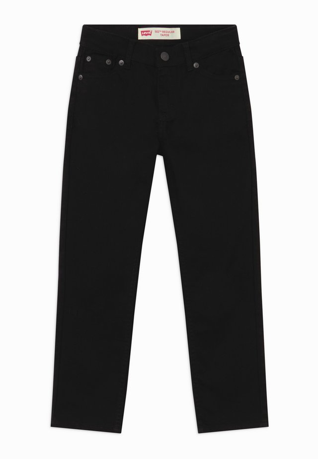 502 REGULAR TAPER UNISEX - Jean droit - black