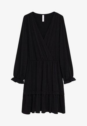 MOSS7 - Robe en jersey - černá