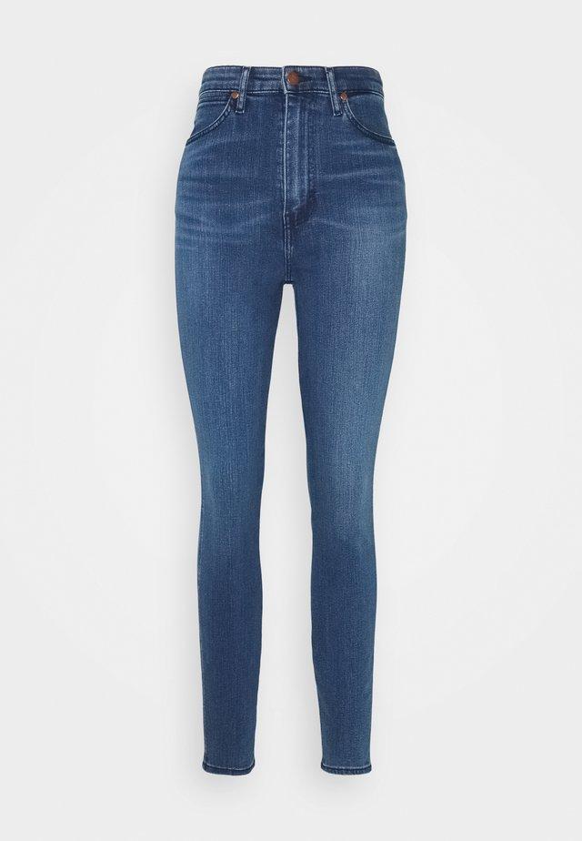WRIGGLER - Jeansy Skinny Fit - dark blue denim