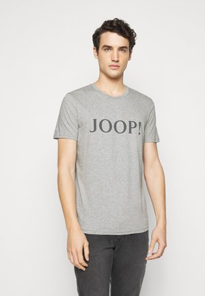 ALERIO - Print T-shirt - mottley grey