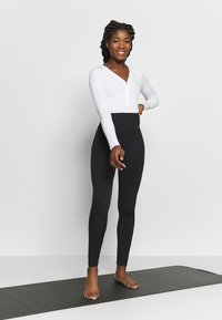 Nike Performance - YOGA LUXE HENLEY BODYSUIT - Leotard - summit white - 1