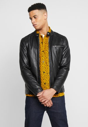 LUCKY JIM - Chaqueta de cuero - black