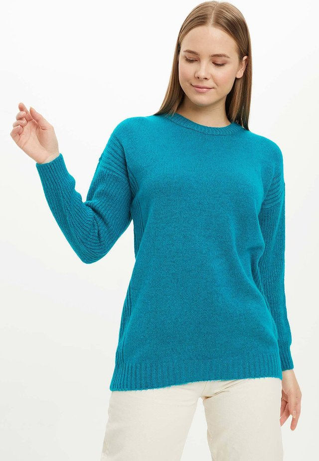 TUNIC - Long sleeved top - turquoise