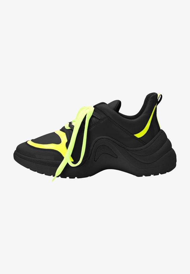 Sneakers laag - black yellow
