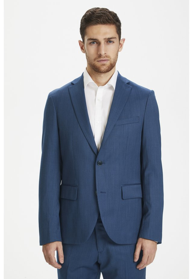 SMALL STRIPE STRETCH SUIT SET - Suit - ink blue