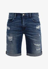 Blend - JEANSSHORTS DENIZ - Denim shorts - denim dark - 4
