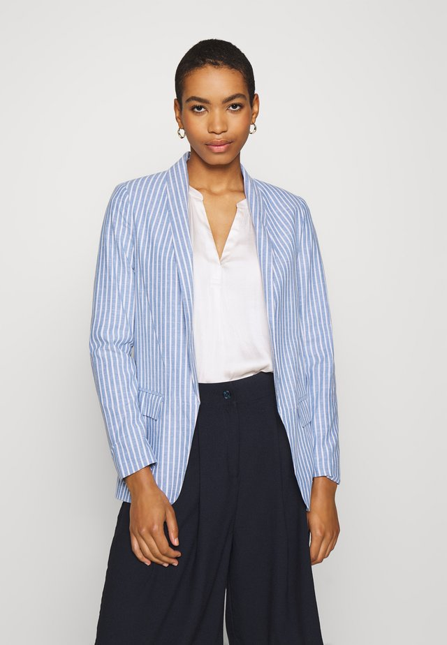 STRIPED   - Blazer - blue
