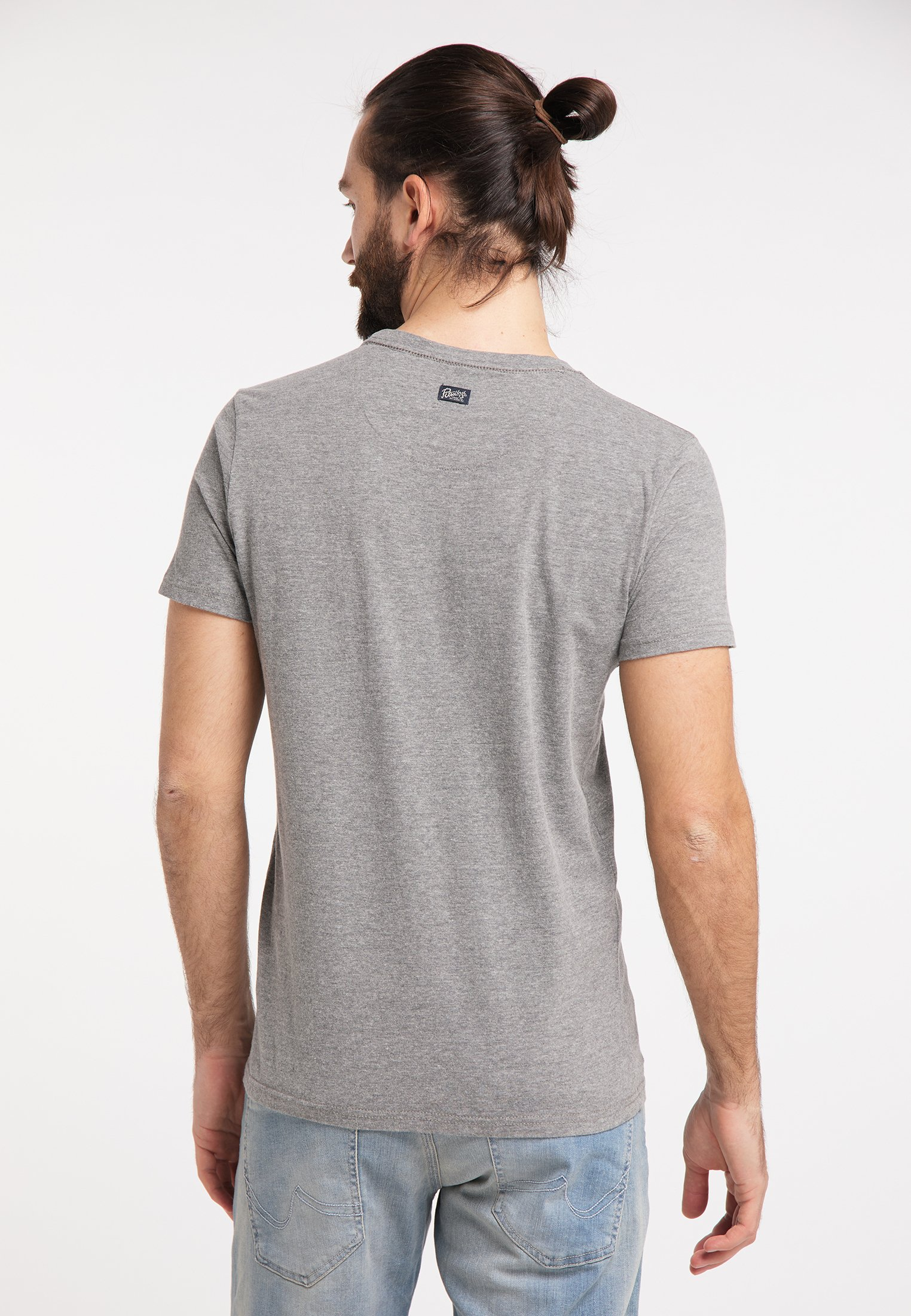 Petrol Industries Print T-shirt - grey 9Cf0z
