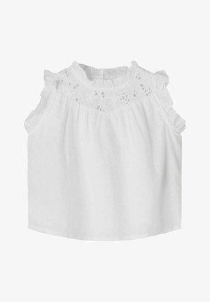 LOCHSTICKEREI - Top - bright white