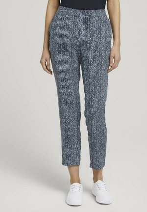 LOOSE FIT - Trousers - blue minimal design vertical