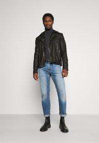 Goosecraft - BERLINER BIKER - Leather jacket - black - 1