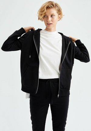 REGULAR FIT - Sweater met rits - black