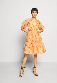 Who What Wear - WRAP DRESS - Day dress - blossom orange - 1