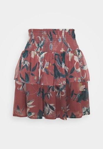 VMWONDA SMOCK SHORT SKIRT - A-line skirt - rose brown/debbie