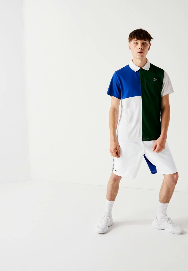 Lacoste Sport - GH2105 - Short de sport - blanc  bleu