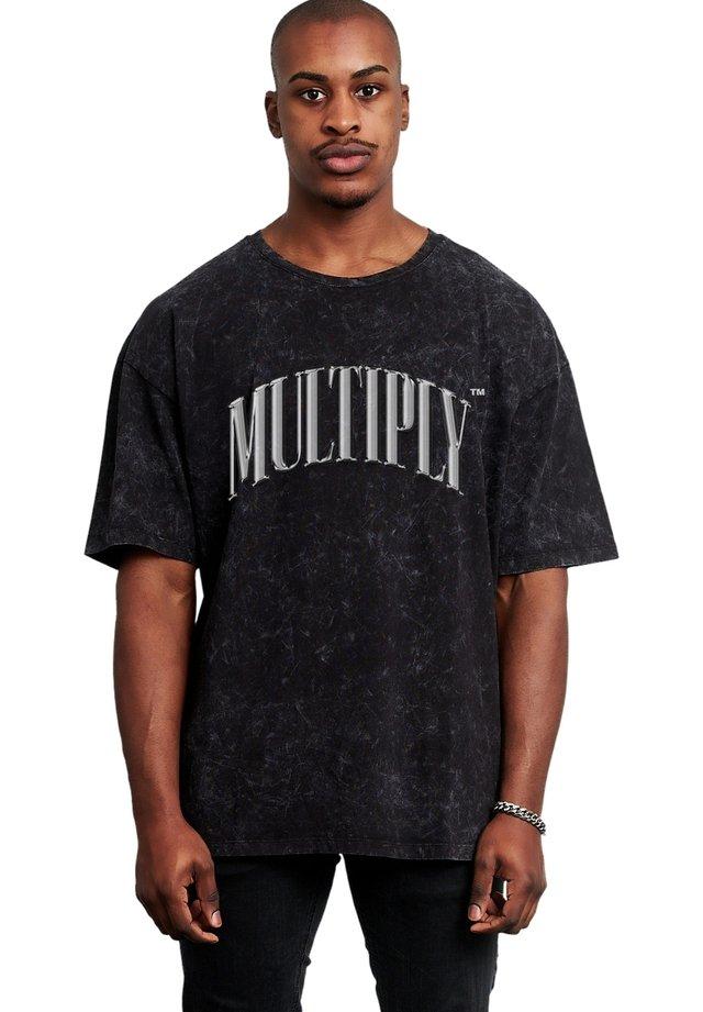 T-shirt print - acid black