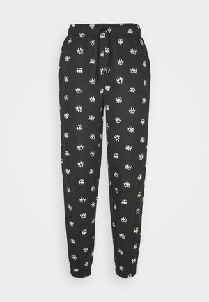 EYE PRINT  - Tracksuit bottoms - black