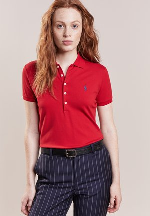 STRETCH - Polo shirt - red/navy