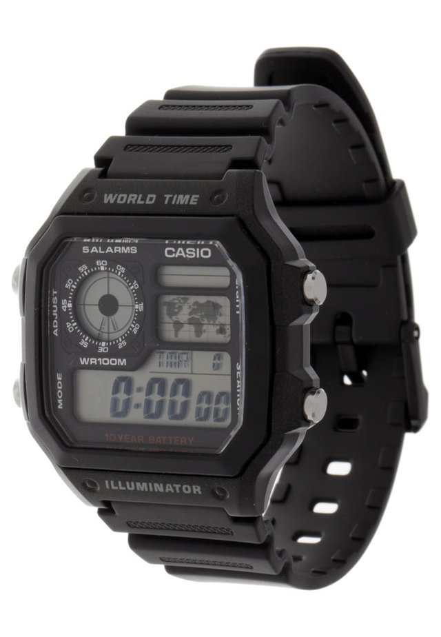 AE-1200WH-1AVEF - Digitalklokke - black