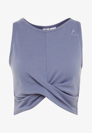 STUDIO NOVELTY YOGA CROP TOP - Toppe - blue