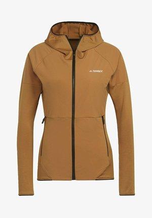 Zip-up sweatshirt - brown