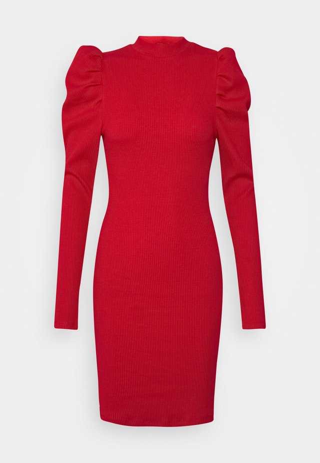 AURORA - Gebreide jurk - red