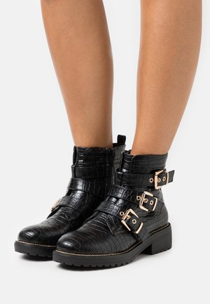 BORN - Cowboy/biker ankle boot - black