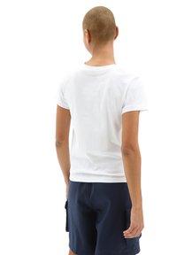 Vans - WM FLYING V CREW TEE - Print T-shirt - white - 2
